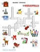 Spanish Crossword Navidad Christmas English Clues Picture Clues w/answers
