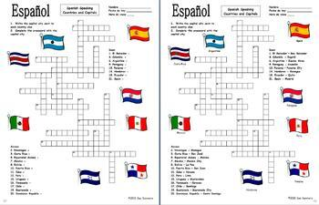 Spanish Crossword BUNDLE of 10 - Family, Colors, Clothing, Greetings, and More!