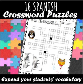Spanish Crossword Puzzles