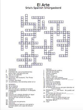 Spanish Crossword - art