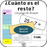 Spanish: ¿Cuánto es el Resto? Game for centers Division Practice