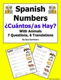 Spanish Cuantos Hay with Numbers and Animals Worksheet