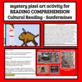 Spanish Cultural Reading Comprehension Sanfermines Mystery Pixel Art Digital