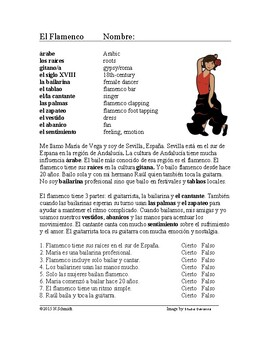 El flamenco Lectura Cultural ~ Flamenco Spanish Reading