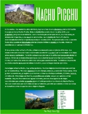 Spanish Cultural Reading:  Machu Picchu - Present Subjunctive