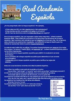 Spanish Cultural Reading:  Real Academia Española - Passive Se