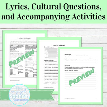 Spanish Present Subjunctive Grammar and Culture through Music
