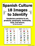 Spanish Culture Vocabulary List and 18 Images to Identify