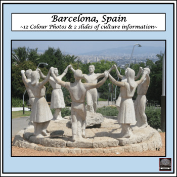 Spanish Culture – Color Pictures for Oral Work – package #2 - Barcelona, Spain