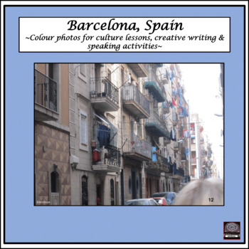 Spanish Culture – Color Pictures for Oral Work – package #3 - Barcelona, Spain