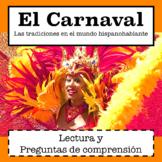Spanish Culture: El Carnaval / Spanish Reading Comprehension Passage
