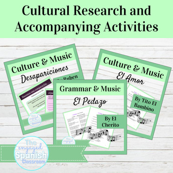 Spanish Culture through Music and Poetry BUNDLE