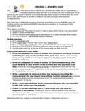 Spanish Culture Paper/Essay/Sub Plan: Plan a Trip to Puerto Rico