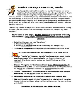 Spanish Culture Paper/Essay/Sub Plan: Plan a Trip to Spain