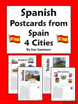 Spanish Culture Postcards from Spain Set 1 - Spanish City, Weather
