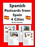 Spanish Culture Postcards from Spain Translations Set 1 -