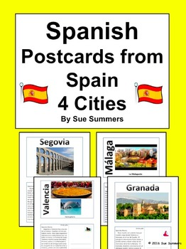 Spanish Culture Postcards from Spain Translations Set 2