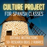 Spanish Culture Project, Student Instructions, Rubrics, Student Presentation