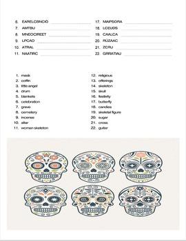 Spanish: Culture Themed Lesson: El Dia de los Muertos