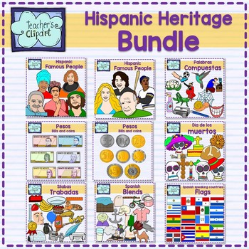 Spanish Culture and Language Clip Art GROWING Bundle - 346 graphics