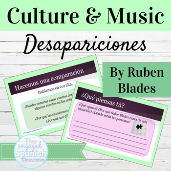 Spanish Culture through Music: Song and Activities for Pre