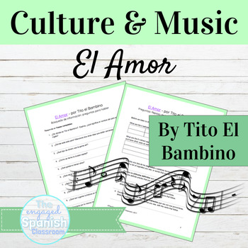 "Spanish Articles and Pronouns: ""El Amor"" Song w/ Culture Puerto Rico"