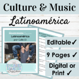 EDITABLE Spanish Culture Through Music Latinoamerica | Dig