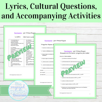 Spanish Culture and Grammar activity for Commands