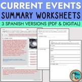 Spanish Current Events Summary Worksheet