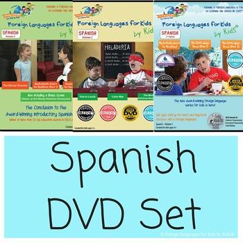Spanish Curriculum DVD Series for Kids