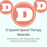Spanish D Articulation Flashcards, Flashcard Games, Carry Over Games, and More!