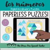 Spanish DIGITAL Puzzles LOS NUMEROS numbers 1 to 100 practice