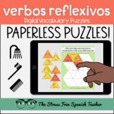 Spanish DIGITAL Puzzles REFLEXIVE VERBS present tense