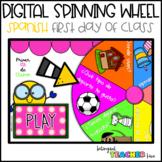 Spanish DIGITAL Spinning Wheel - Primer día de clases