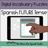 Spanish DIGITAL Vocabulary Puzzles for the FUTURE TENSE