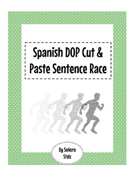 Spanish DOP Cut & Paste Sentence Race