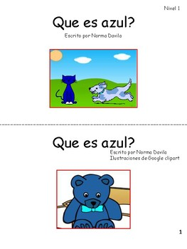 Spanish - DRA/EDL2 Practice Guided Reading Level 1