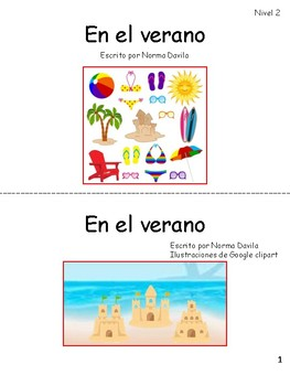 Spanish - DRA/EDL2 Practice Guided Reading Level 2