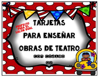 Spanish DRAMA TASK CARDS W/ QR Codes