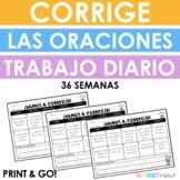 Spanish Daily Sentence Editing - Yearlong - Corrige las oraciones