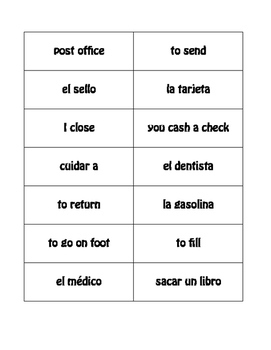 Spanish Daily Errands Buzz Game