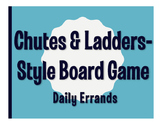 Spanish Daily Errands Chutes and Ladders-Style Game