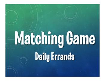 Spanish Daily Errands Matching Game