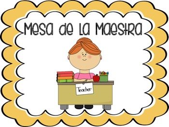 Spanish Daily Five Rotation Cards and Posters