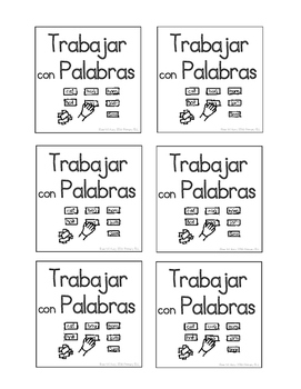 Spanish Daily Five cards - print and color