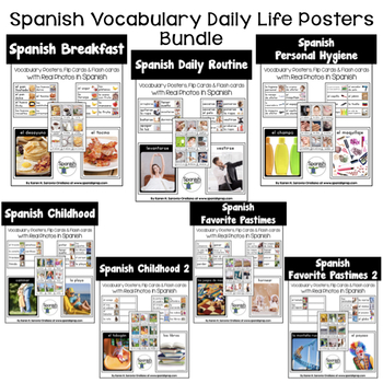 Spanish Daily Life Posters Bundle