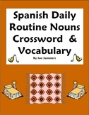 Spanish Daily Routine Crossword Images Word List - Substitute Lesson