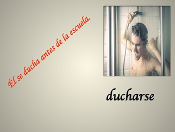 Spanish Daily Routine/Reflexive Verbs Vocabulary