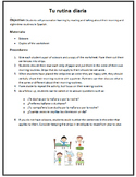 Spanish Daily Routine (Rutina Diaria) Sentence Ordering Activity