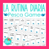 Spanish Daily Routine Vocabulary Pesca (Go Fish) Game